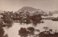 General view of the City and Lake from the North, [Udaipur]